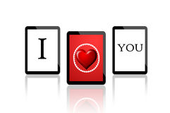 I Love you - 3 Digital Tablets Stock Image