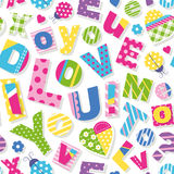 I love you do you love me too pattern Stock Photos