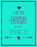 I love you everyday valentines vector Stock Photo