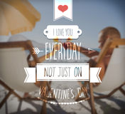 I love you everyday valentines vector Stock Photography