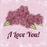 I love you flower design Royalty Free Stock Photography