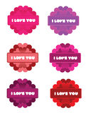 I Love You Flowers Stock Photography