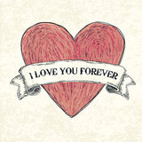 I love you forever. Stock Image