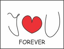 I love you forever. Love sign. vector illustration
