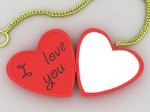 I love you front stock illustration
