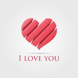 I love you. Gently declaration of love. Heart with text Royalty Free Stock Images