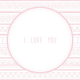 I love you greeting card1 Stock Images