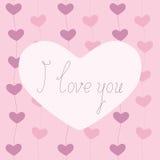 I love you greeting card Stock Photos