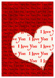I love you greeting card Royalty Free Stock Photography