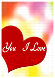 I love you greeting card Royalty Free Stock Images