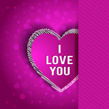I Love You greeting card Royalty Free Stock Photos