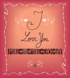 I love you greeting card Stock Images