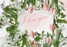 I love you. Greeting card Stock Image