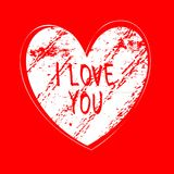 I love you hand draw card Royalty Free Stock Photo