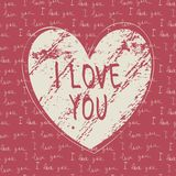 I love you hand draw card Stock Photo