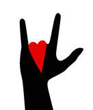 I love you.Hand gesture Royalty Free Stock Images