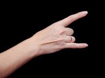 I Love You Hand Gesture Stock Photography