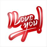 I Love You Hand Lettering Text Royalty Free Stock Photo