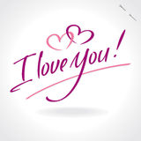 I Love You hand lettering (vector) Stock Image