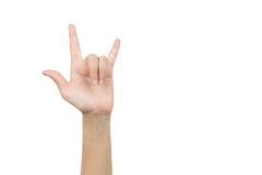 I love you hand sign gesture Stock Photos