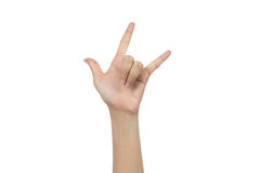 I love you hand sign Royalty Free Stock Image