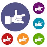 I Love You hand sign icons set Royalty Free Stock Image