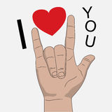 I love you hand signal vector illustration Stock Images