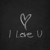 I love you - handwritten message on a chalkboard Royalty Free Stock Image