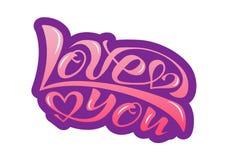 Vector illustration of I love you royalty free illustration