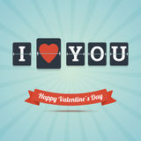 I Love You - Happy Valentine's Day greeting card. Royalty Free Stock Photo