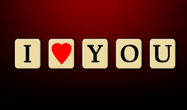 I love you. Happy Valentines day card Royalty Free Stock Image