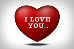 I love You with heart Royalty Free Stock Image