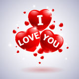 I love you with heart Stock Image
