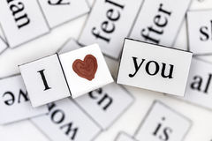 I Love You. With a heart Royalty Free Stock Photo