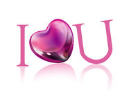I love you heart. I love you and heart illustration Stock Photos