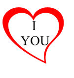I love you heart Royalty Free Stock Image