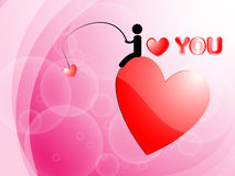 I Love You and Heart Background. EPS 10 Vector Vector Illustration