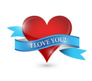 I love you heart illustration design Stock Photography