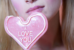 I love you heart lollipop Royalty Free Stock Image
