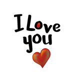 I Love You. Heart painting & design Stock Photos