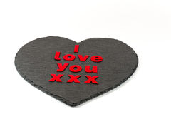 I love you on heart Royalty Free Stock Photo