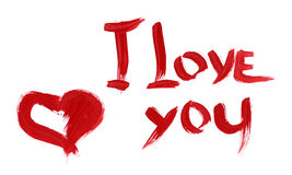 I Love You heart Valentine paint Stock Photography