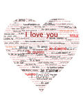 I love You in hearth outline Royalty Free Stock Photo