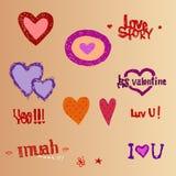 I love You, hearts Royalty Free Stock Photos