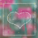 I Love You Hearts Bokeh Background Royalty Free Stock Photos