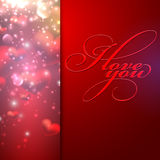I love you. holiday background. With hearts Stock Photos