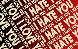 I love you & I hate you Stock Image