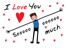 I love you, i love you so much. Editable vector illustration, background Vector Illustration