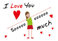 I love you, i love you so much. Editable vector illustration. background Royalty Free Illustration