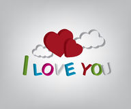 I love you illustration Royalty Free Stock Images